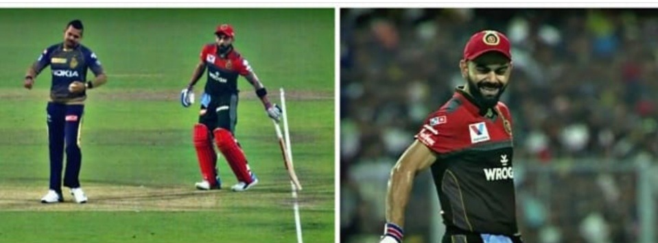 Virat Kohli making fun of Sunil Narine on Mankad in KKR vs RCB match in IPL 2019