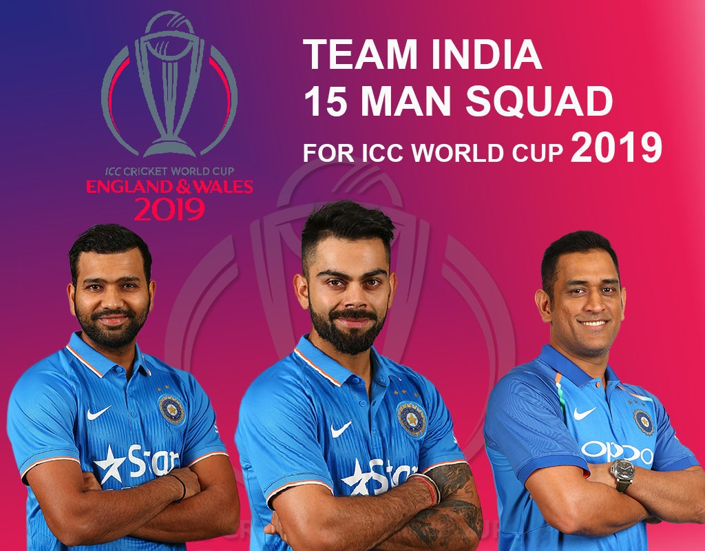 15 member squad of world cup 2019