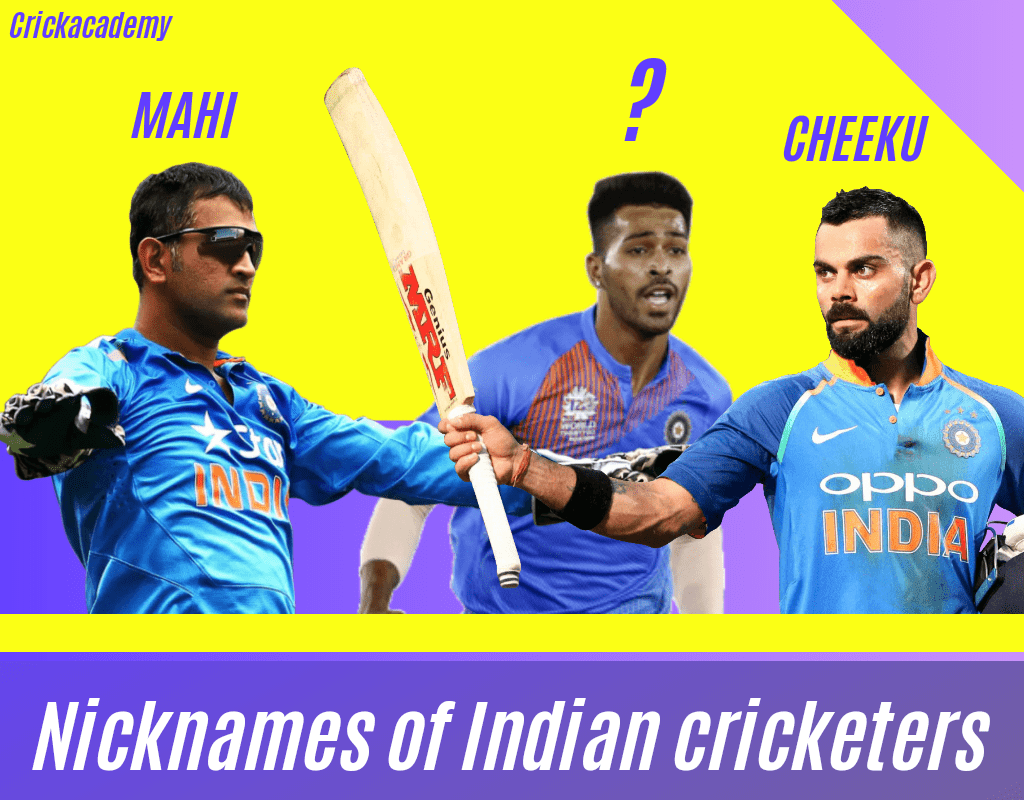 Nicknames of Indian Cricketers