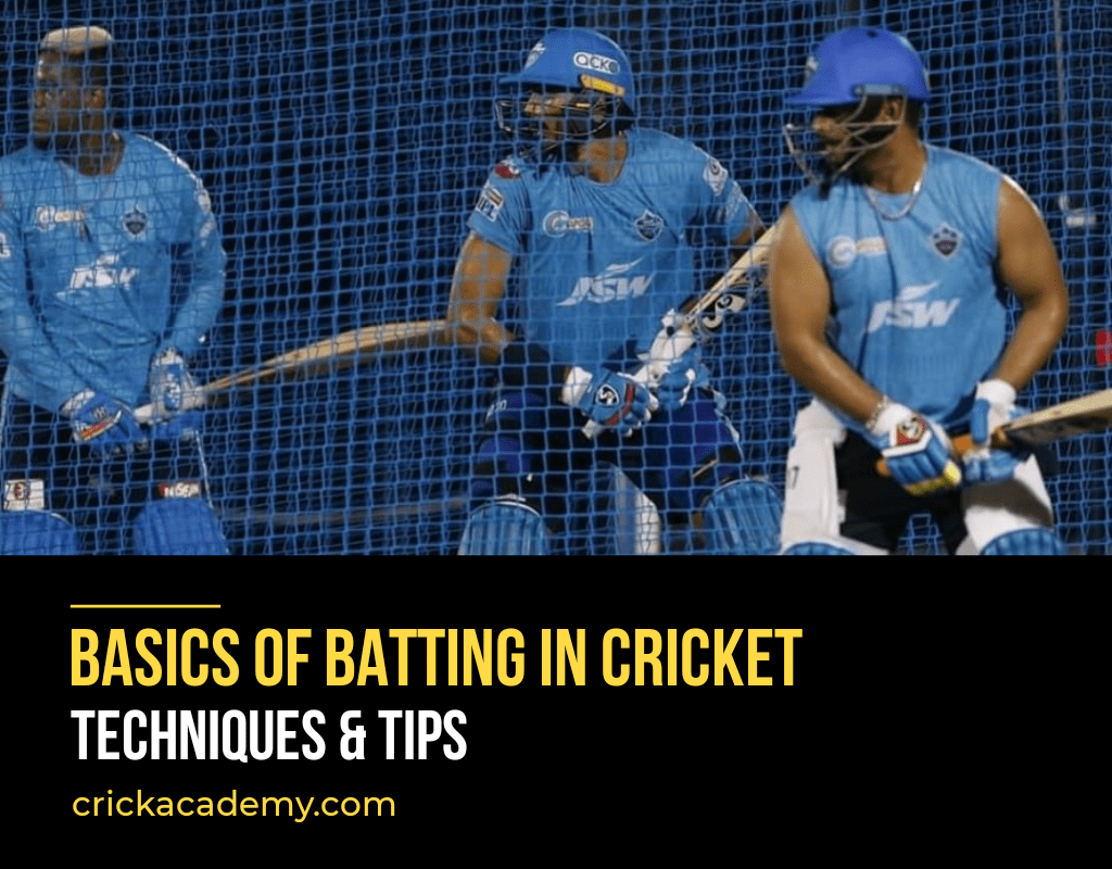 Basics of batting in cricket